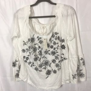 Anthropologie Annie Embroidered blouse size Large